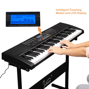 61 Key Keyboard w/ Built In Functions, LCD Screen, USB Port & 3 Teaching Modes For Beginners