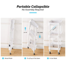 Load image into Gallery viewer, Multifunction Foldable 3-Layer Mobile Storage Trolley
