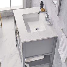 "Load image into Gallery viewer, F&R 30"" Bathroom Vanity  & Sink Combo w/  Marble Countertop (White/ Blue/ Gray)"