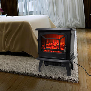 "17"" 1400W Fireplace/ Fake Wood/Heating Wire/Temp. Control Knob/Switch Button"