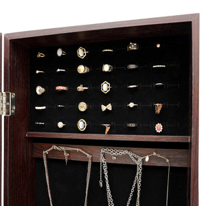 Fashionable Multi-Function Lockable Jewelry Armoire c/ Full Length Mirror