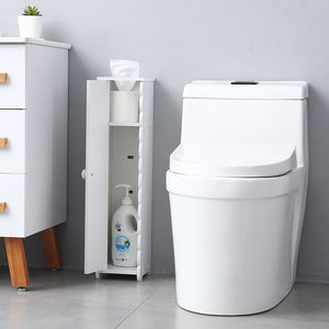 Multiuse Narrow Compact Toilet Tissue Storage Cabinet