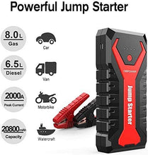 Load image into Gallery viewer, DBPOWER G16 2000A 20800mAh Portable Car Jump Starter