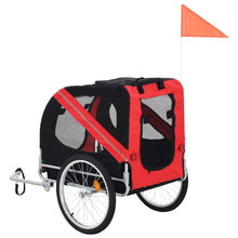 Load image into Gallery viewer, Red and Black Dog Bike Trailer