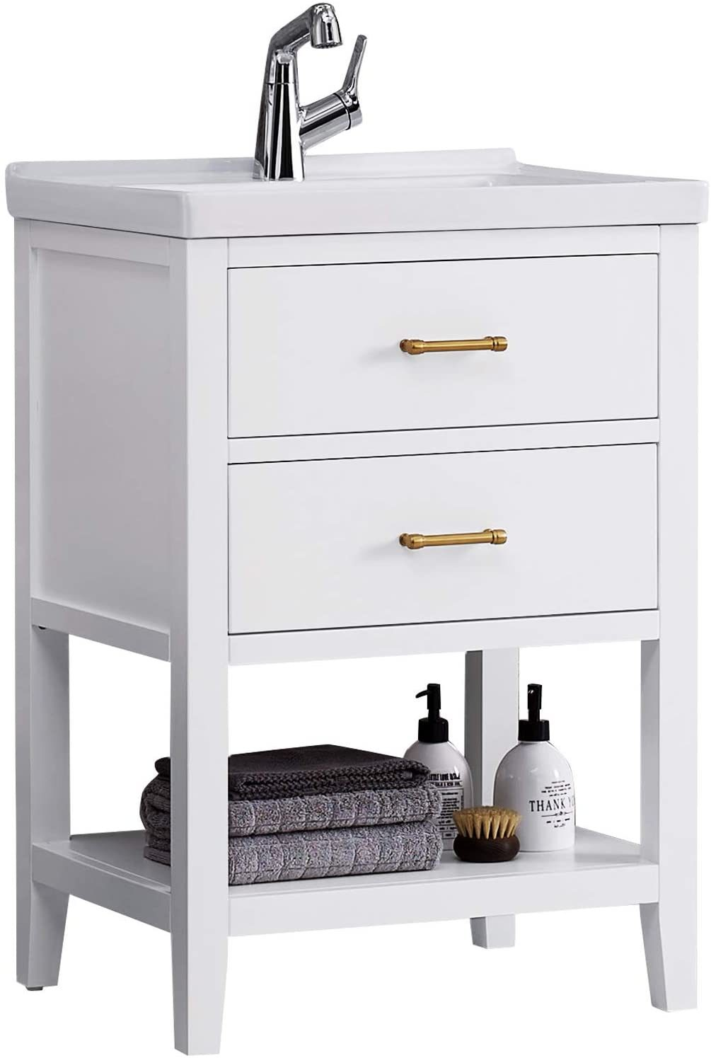 F&R Solid Wood Bathroom Vanity 24