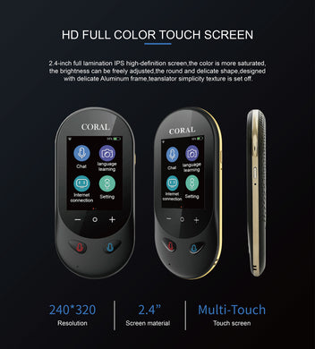 2.4- inch Touch Tcreen  AI Voice Photo 106 Languages Voice Translator