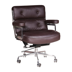 LOBBY Swivel Genuine Leather Office Chair