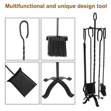 Load image into Gallery viewer, 31'' Heavy Duty Wrought Iron Indoor/Outdoor 5-PCS Fire Place Toolset