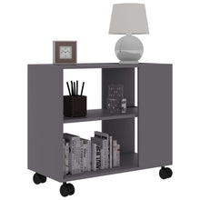 Load image into Gallery viewer, Sofa Side Table On Wheels w/ Storage Rack