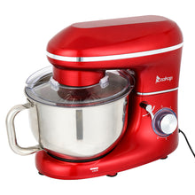 Load image into Gallery viewer, 660W 5.8QT 6 Speed Control Electric Stand Mixer
