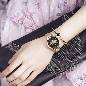 Braided Steel Bee Belt Women Watch
