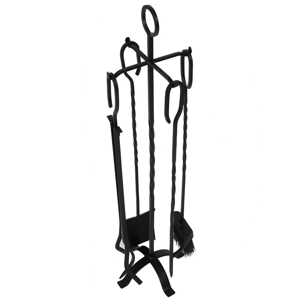 31'' Heavy Duty Wrought Iron Indoor/Outdoor 5-PCS Fire Place Toolset