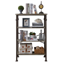 Load image into Gallery viewer, 4-Tier Rustic Industrial Style Bookshelf