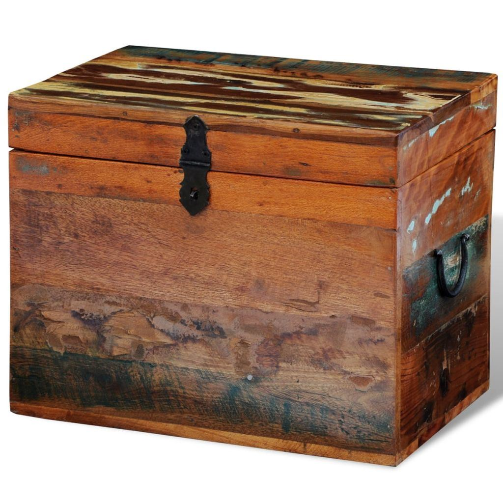Reclaimed Solid Wood Storage Box 15