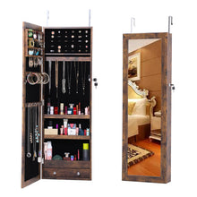 Load image into Gallery viewer, Wall/Door Mounted Fashion Jewelry  Cabinet W/ Mirror
