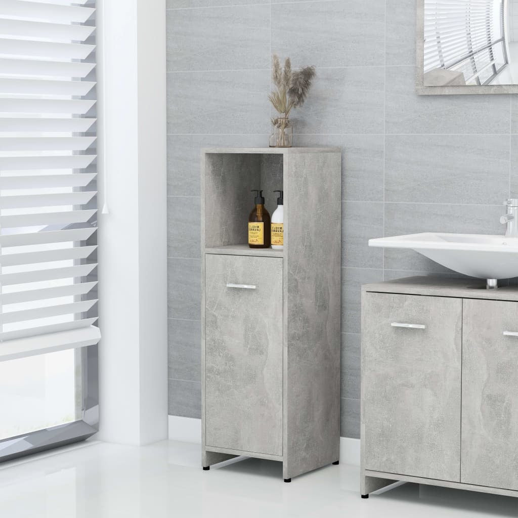 Chipboard Bathroom Cabinet Concrete Gray 11.8