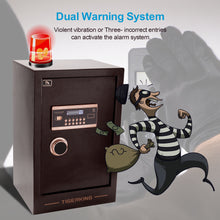 Load image into Gallery viewer, TIGERKING Burglary Digital Security Safe Box W/ Double Safety Key Lock (3.47 Cubic Ft)