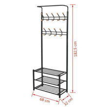 Load image into Gallery viewer, 68x32x182.5 cm Clothes Rack with Shoe Storage