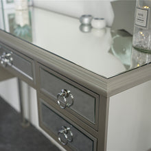 Load image into Gallery viewer, 5-Drawer Modern Decorative Design Mirrored Desk Console Table