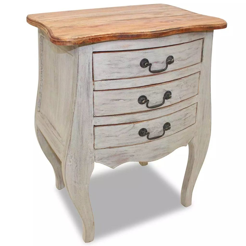 Bedside Cabinet Solid Reclaimed Wood 18.9