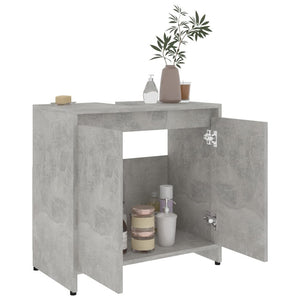 "Chipboard Bathroom Cabinet Concrete 23.6""x13""x22.8""(Gray)"