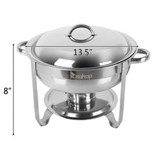 Load image into Gallery viewer, 5L-1 Single Pot One Set Stainless Steel Round Buffet Stove