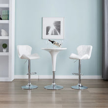 Load image into Gallery viewer, Bar Stools 2 pcs White Faux Leather