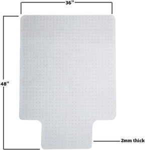 Home/ Office Chair Mat for Carpet Protection (47.24 X 35.43 X 0.08)""