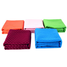 Load image into Gallery viewer, Star Pattern Non-Slip Yoga Pilates Sweat Absorbent Mat Cover Cloth