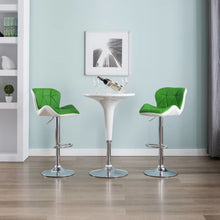 Load image into Gallery viewer, Bar Stool Green Faux Leather