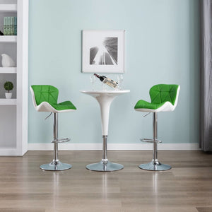 Bar Stool Green Faux Leather