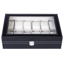 Load image into Gallery viewer, 12 Slot Leather Unisex Watch/Jewelry Display Case Organizer