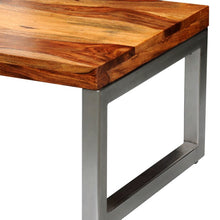 "Load image into Gallery viewer, 39.4"" x 19.7"" x 13.8"" Solid Sheesham Wood Coffee Table W/  Steel Leg"
