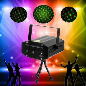 Mini LED R & G Stage Laser Star Projector Disco Lighting