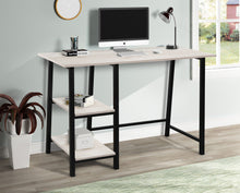 Load image into Gallery viewer, Metal Frame Computer Desk w/ Wood Surface