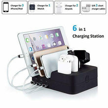 Load image into Gallery viewer, 6 Port USB  Multi Device Charging Station