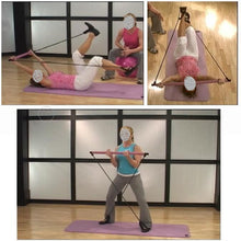 Load image into Gallery viewer, Yoga Exercise Portable Pilates Bar with Foot Loops for Total Body Workout