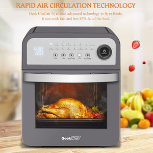 Geek Chef 16-In-1 Air Fryer Oven 13QT Capacity W/ Rotisserie & Dehydrator