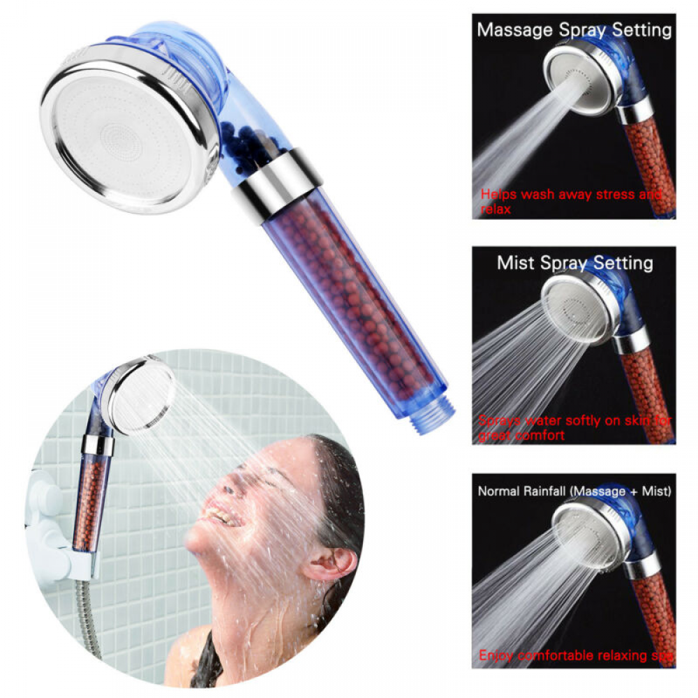 3-Functions Portable Shower Head
