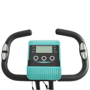 Folding Stationary Upright Indoor Cycling Bike With Resistance Bands