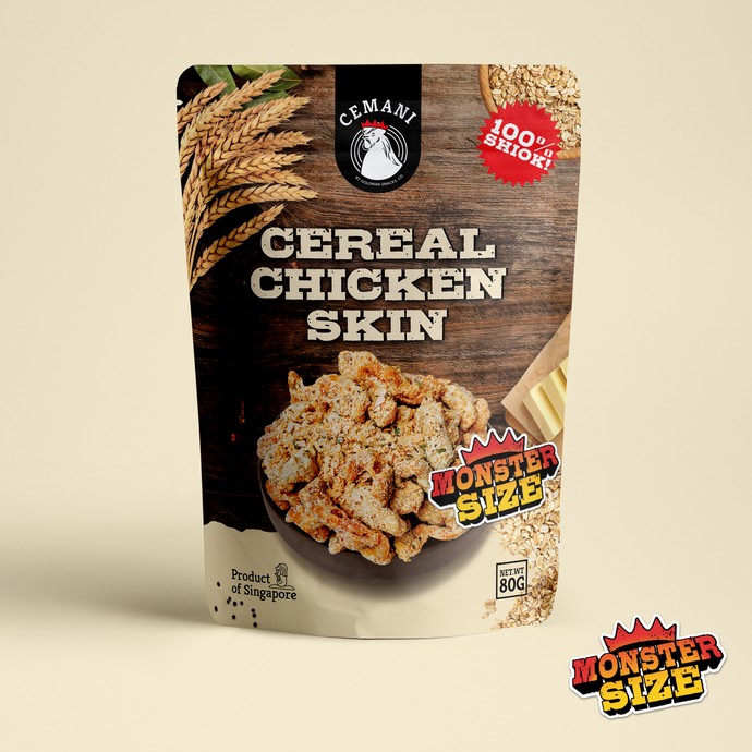 *MONSTER SIZE* Cereal Chicken Skin (80g)