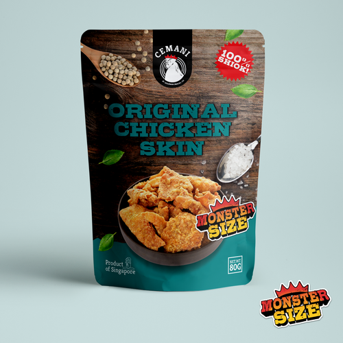 *MONSTER SIZE* Original Chicken Skin (80g)