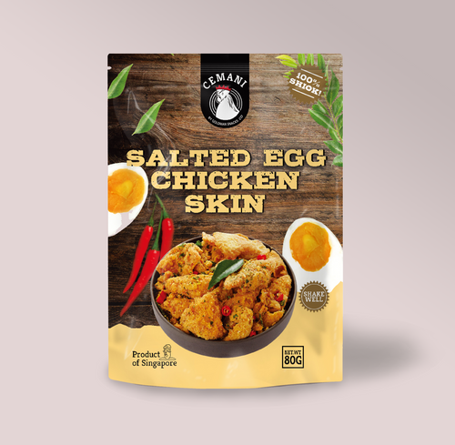 Salted Egg Chicken Skin (80g)