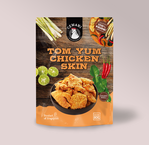Tom Yum Chicken Skin (80g)