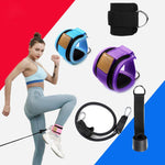 Resistance Bands with Ankle Straps Cuff with Cable for Attachment Booty Butt Thigh Leg Pulley Strap Lifting Fitness Exercise - outoff