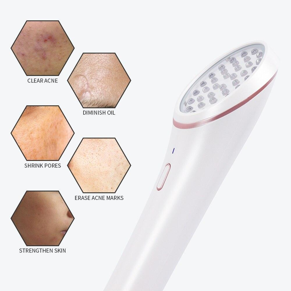 LED Photon Skin Rejuvenation Light Acne Light Therapy Red Blue Light - outoff