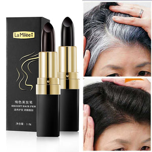 One-Time Hair dye Instant Gray Root Coverage Hair Color Modify Cream Stick Temporary Cover Up White Hair Colour Dye 3.8g - outoff