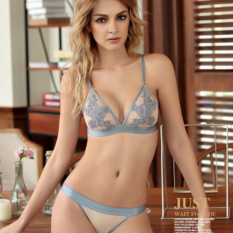 French Nude Lingerie bra Set - outoff