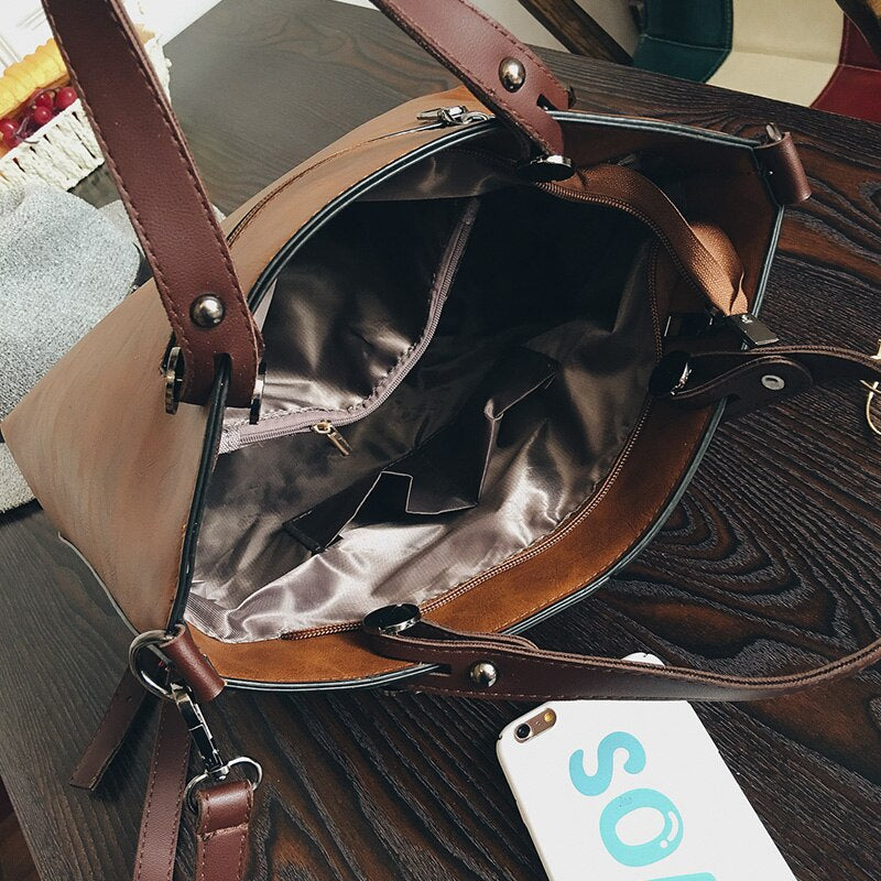 Wax Oil Leather Bag - outoff