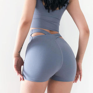 Fitness Tight Shorts High Waist yoga Short Sports Wear - outoff